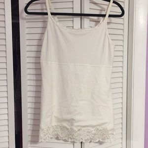 Lace and rayon cami